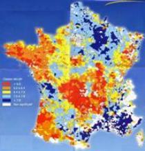Carte du pH des sols francais